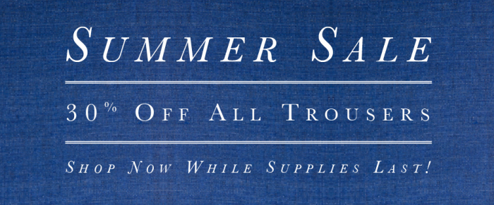 Summer Trouser Sale