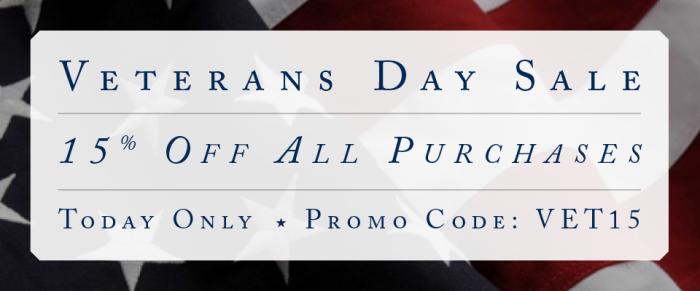 Veterans Day 2015 Sale