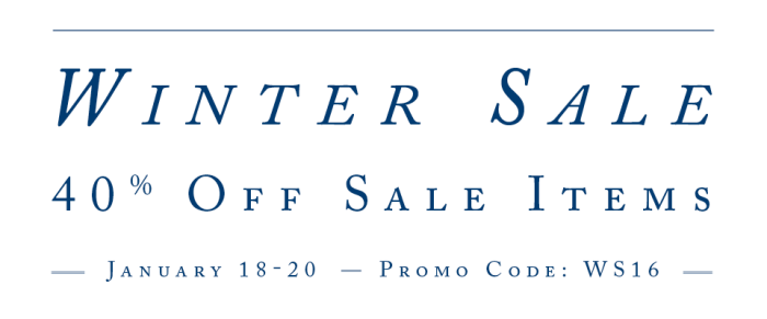 Winter Sale 2016