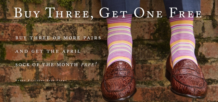 Dapper Classics April Sock of the Month