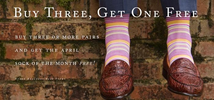 Dapper Classics April Sock of the Month