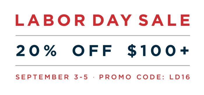 Labor Day Sale 2016 -
