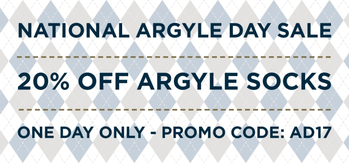 Argyle Day Sale