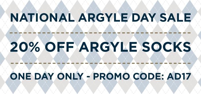 Argyle Day Sale