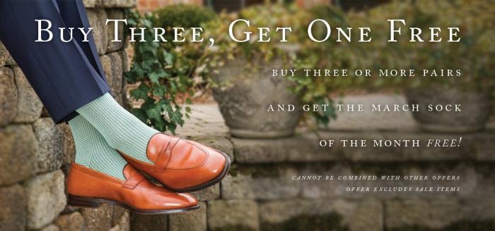 Dapper Classics March Sock of the Month